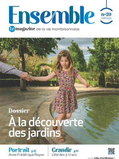 couverture magazine ensemble n°20 avec fillette jouant au bord d'un bassin